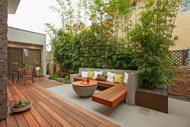 formal wooden deck design