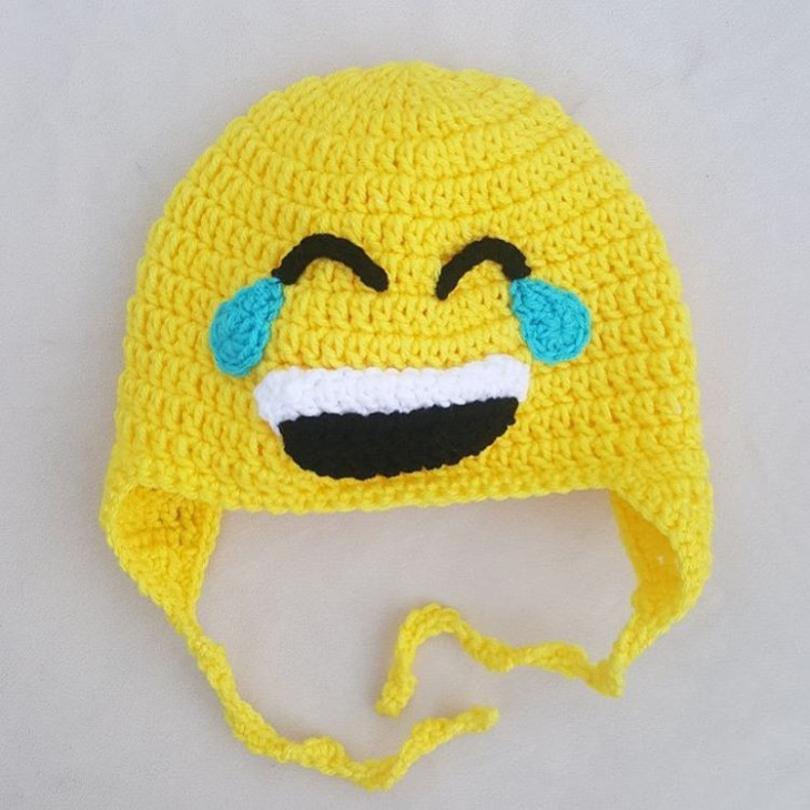 Crochet Emoji Hat Idea