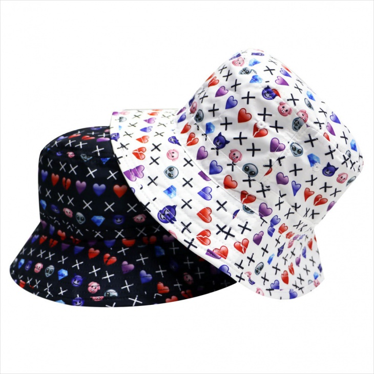 Mixed Emoji Bucket Hat