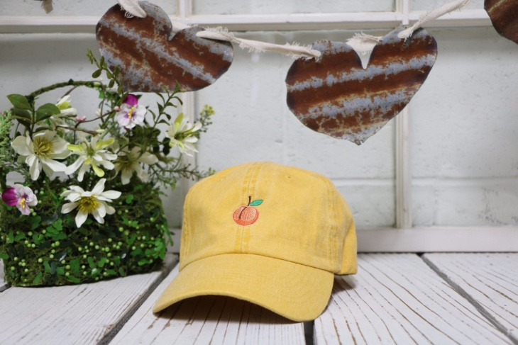 Peach Emoji Baseball Hat