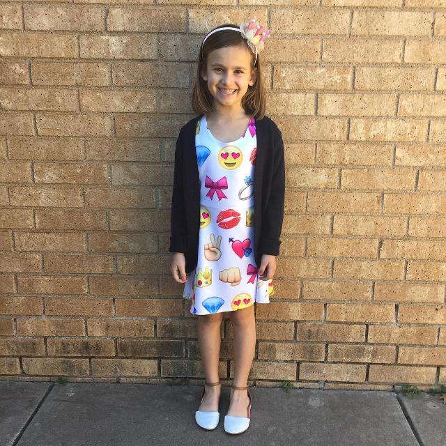 emoji dress for kids