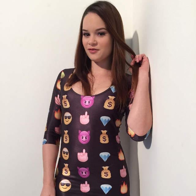 emoji print bodycon dress