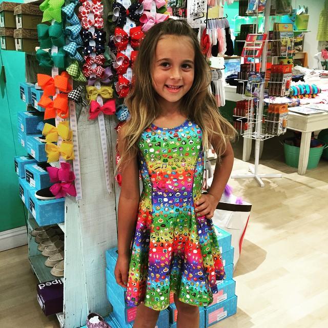 rainbow emoji dress