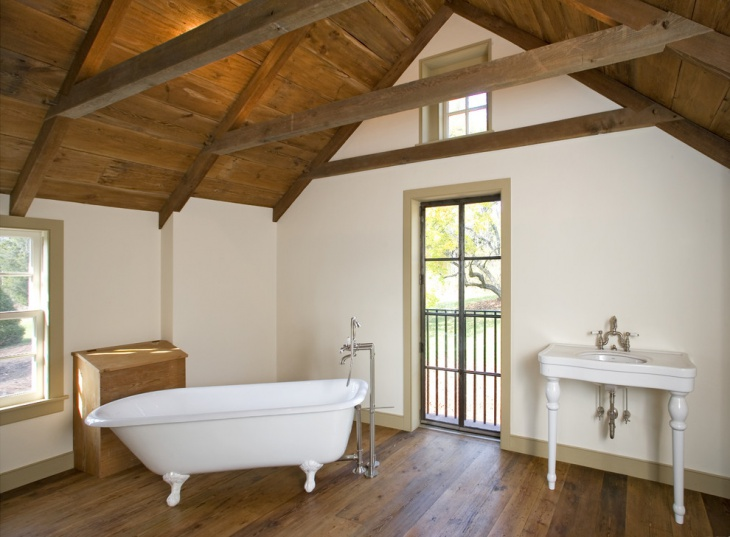 Small Vaulted Ceiling Bathroom
