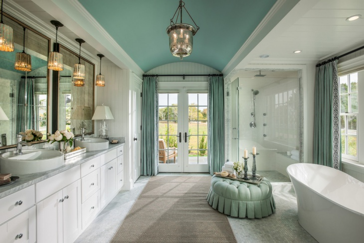 Traditional Vaulted Ceiling Bathroom