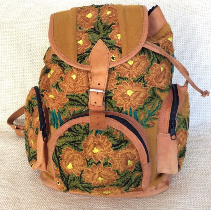 vintage floral backpack