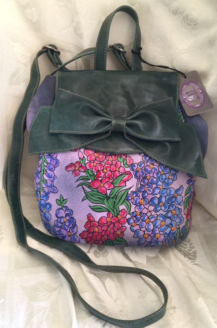 floral bow backpack