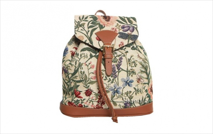 floral print buckle backpack