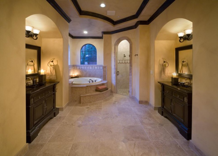 Vaulted Ceiling Bathroom Design