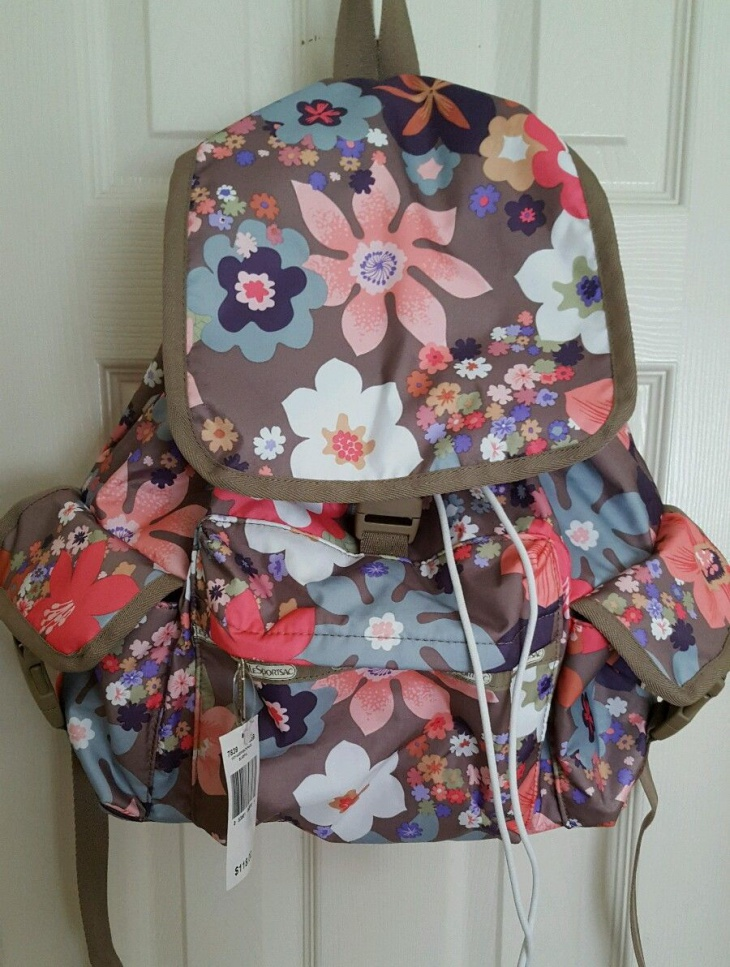 handmade floral backpack