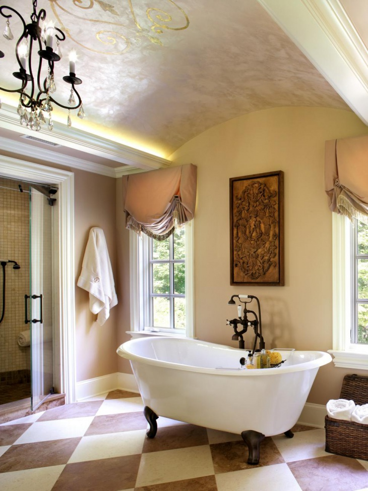 Transitional Vaulted Ceiling Bathroom