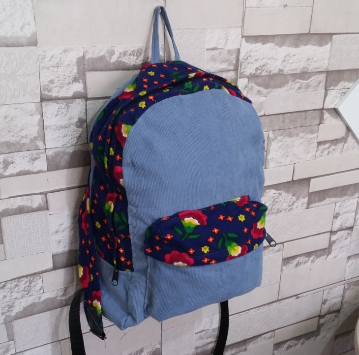 floral hipster backpack