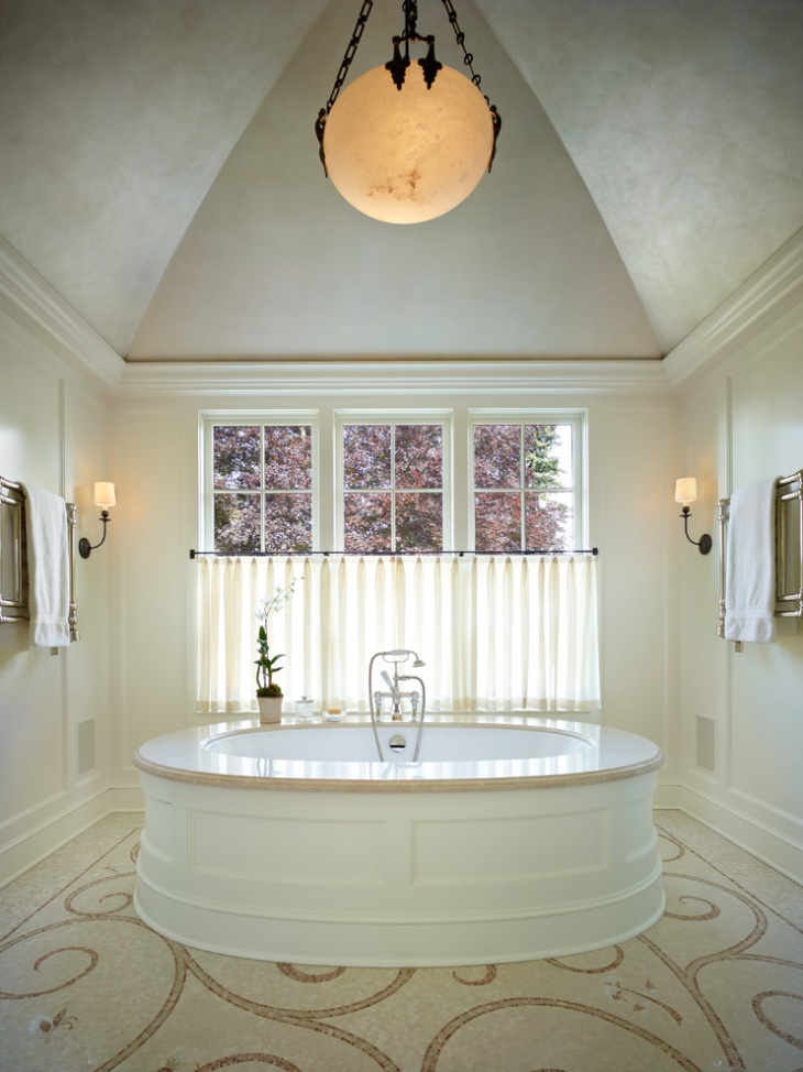 Classic Vaulted Ceiling Bathroom