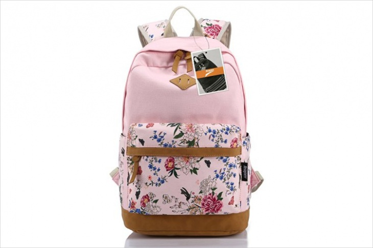 pink floral backpack idea