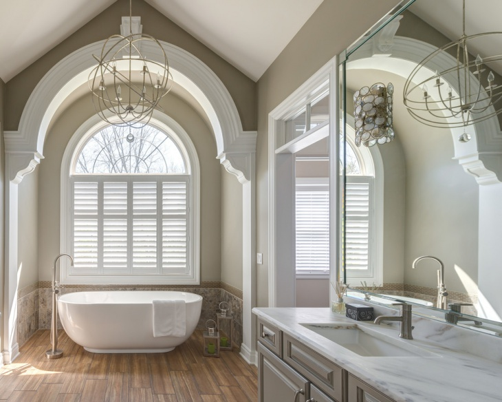 Amazing Vaulted Ceiling Bathroom
