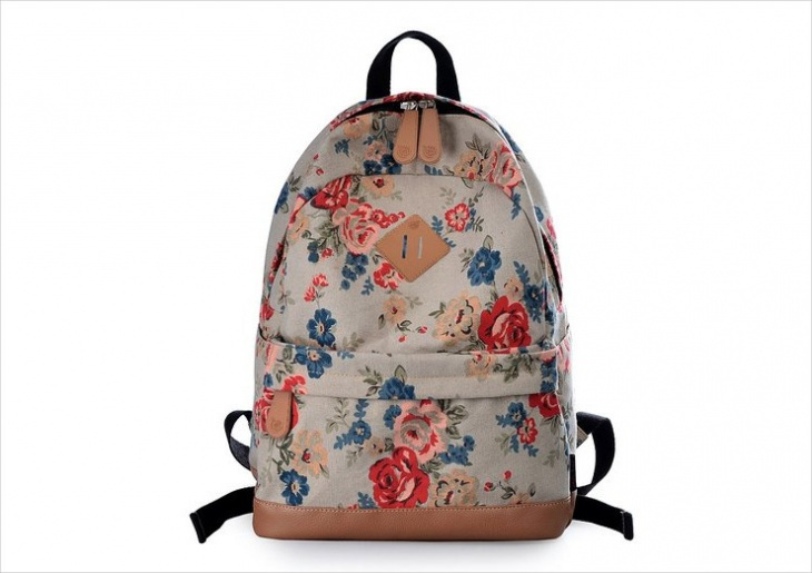 cute floral printed backpack