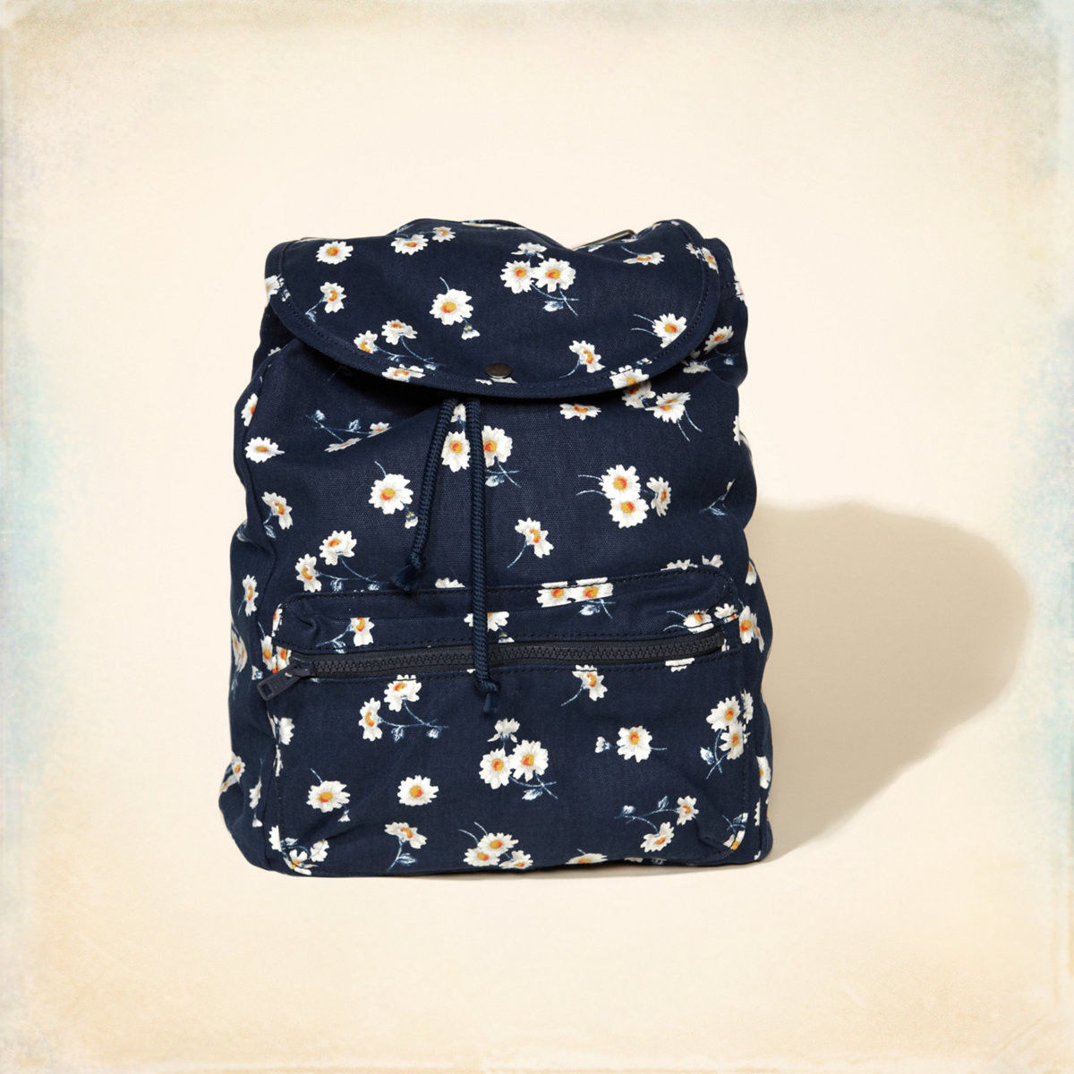 navy blue floral backpack