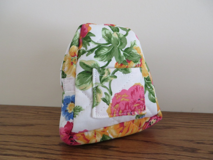 simple floral backpack idea