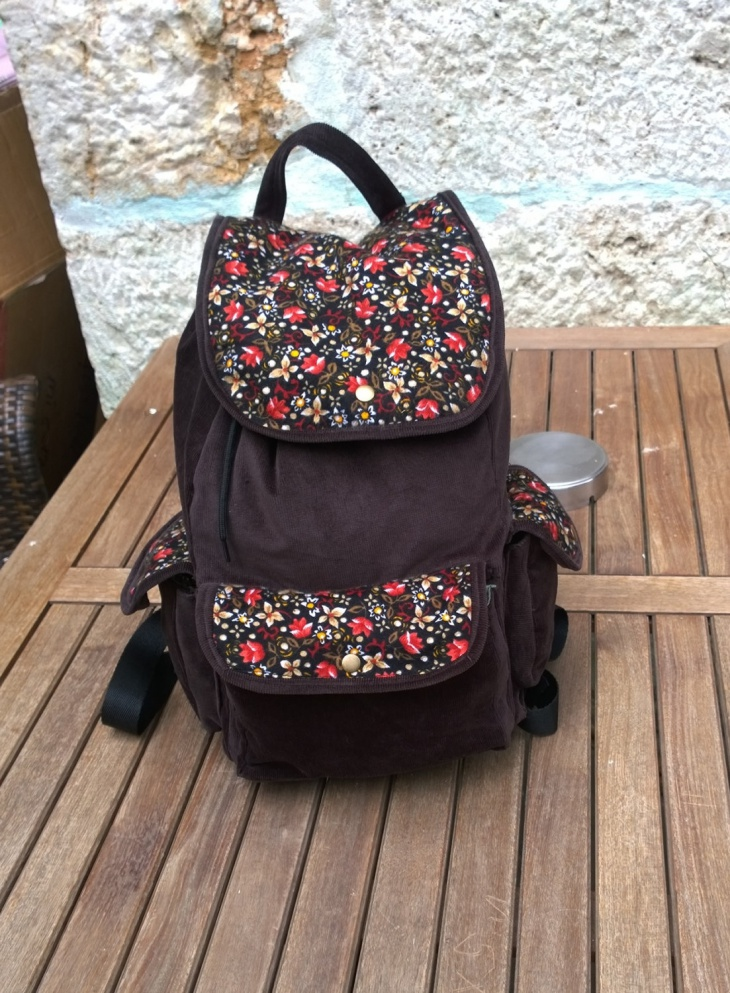 ethnic floral backpack bag
