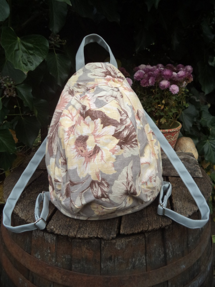 canvas floral backpack design