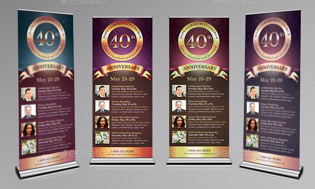 Church Anniversary Banner Design