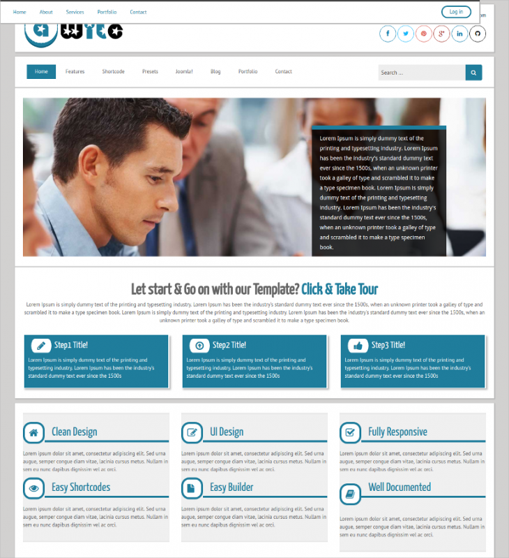 Corporate Marketing Business Joomla Template