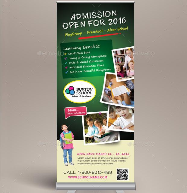 School Promotion Banner Design