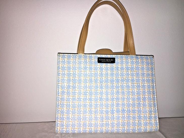 leather plaid handbag