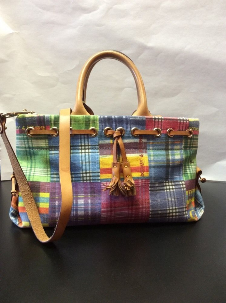 Plaid Crossbody Handbag