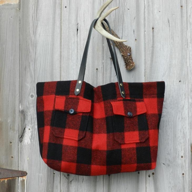 wool plaid handbag