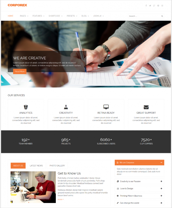 Marketing Joomla Template With Mega Menu