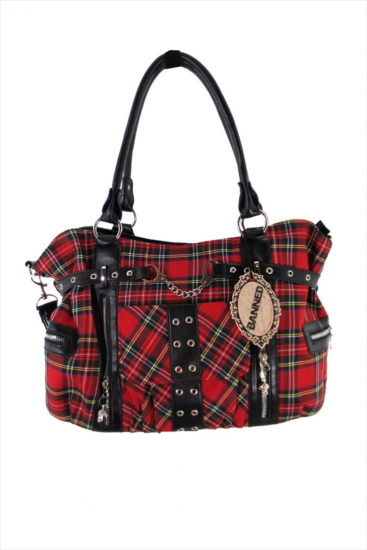 red plaid handbag1