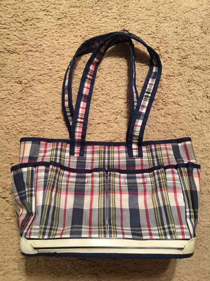vintage plaid handbag