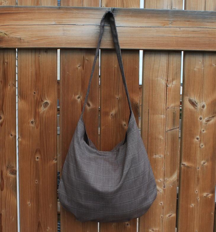 brown plaid handbag