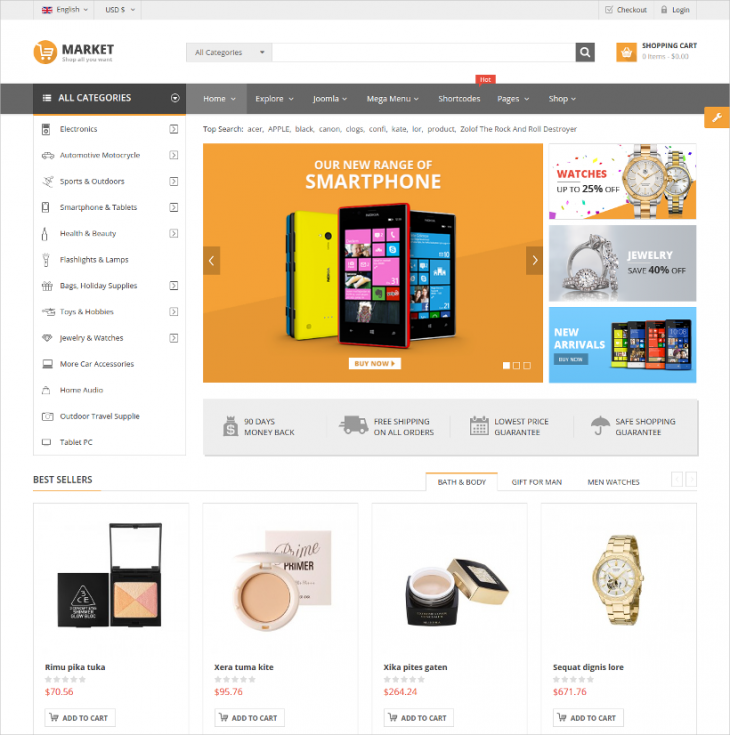 Wide Boxed Marketing Joomla Theme
