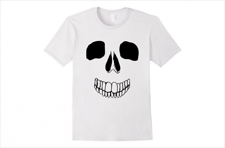 skeleton face t shirt