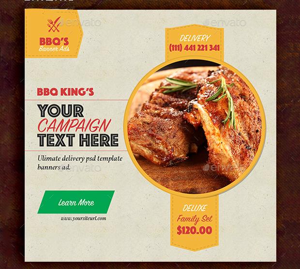 BBQ Restaurant Banner Design