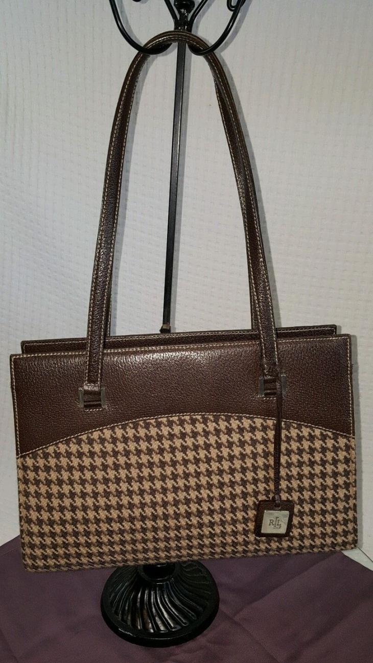 Wool with Brown Plaid Hanbag