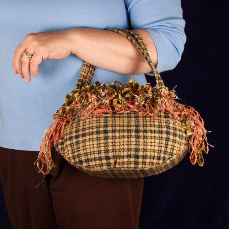 Plaid Multi Colored Handbag