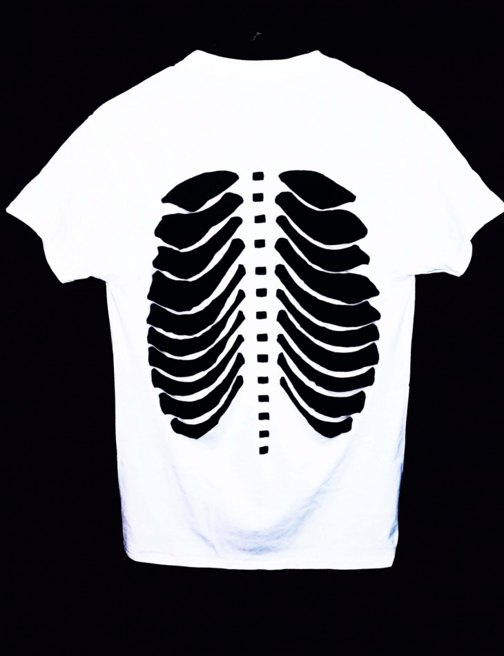 skeleton cut out t shirt