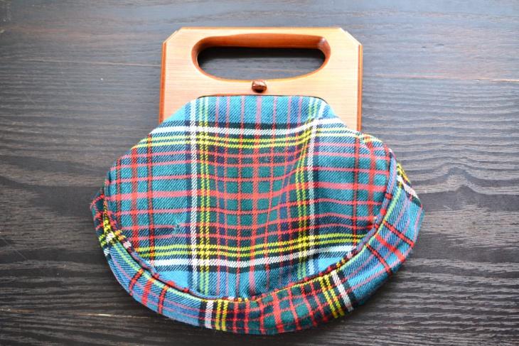 Wool Tartan Plaid Kilt Handbag
