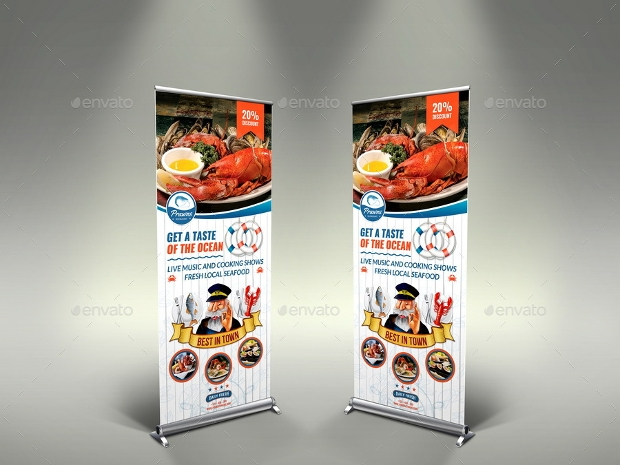 Sea Food Restaurant Banner Design