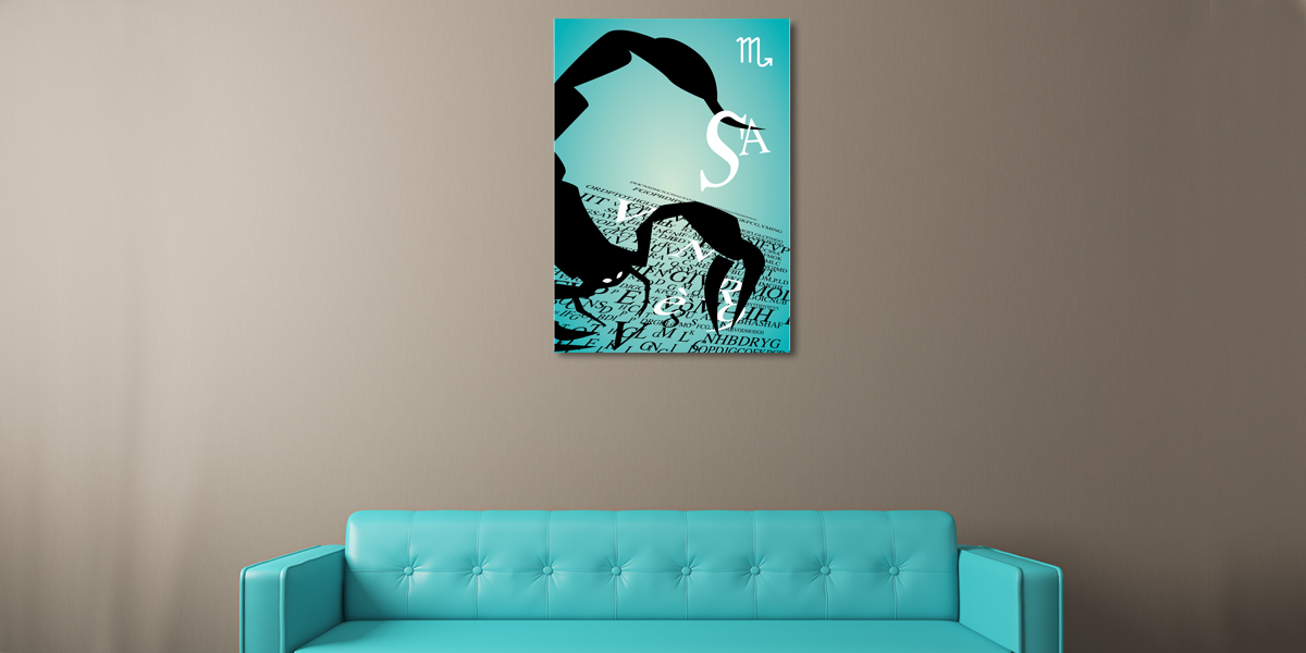 abstract zodiac wall art