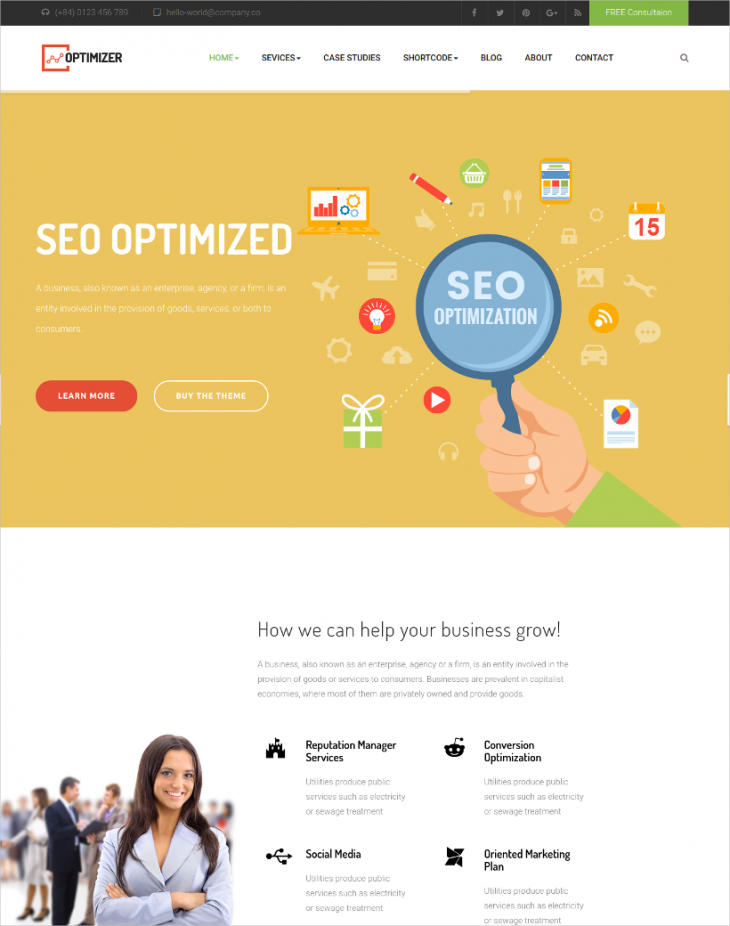 SEO Optmized Marketing Joomla Theme