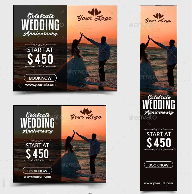 Wedding Anniversary Banner Design