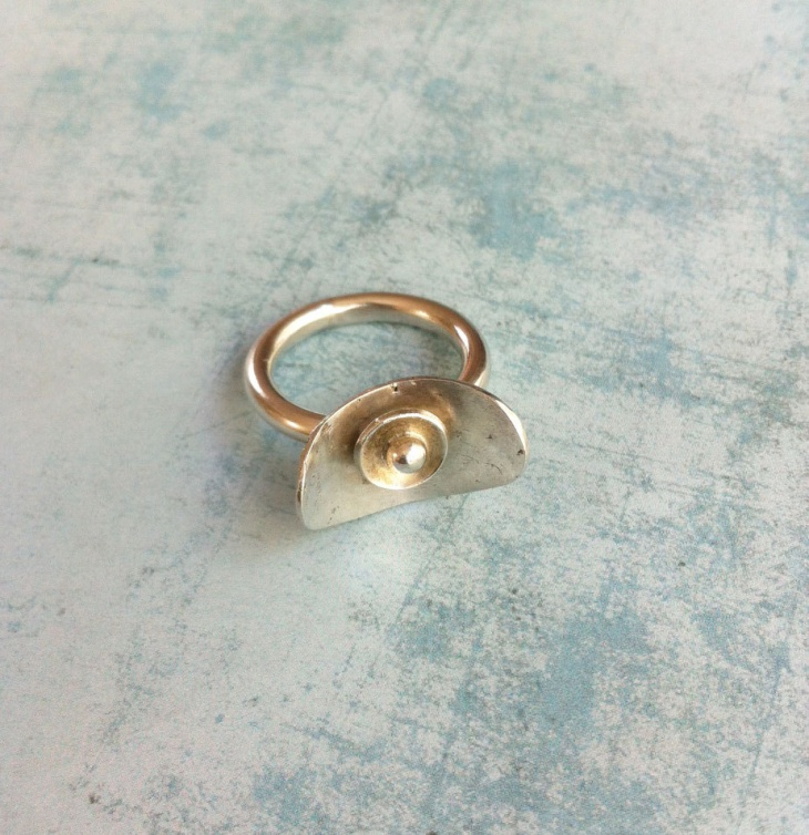 geometric sculptural ring