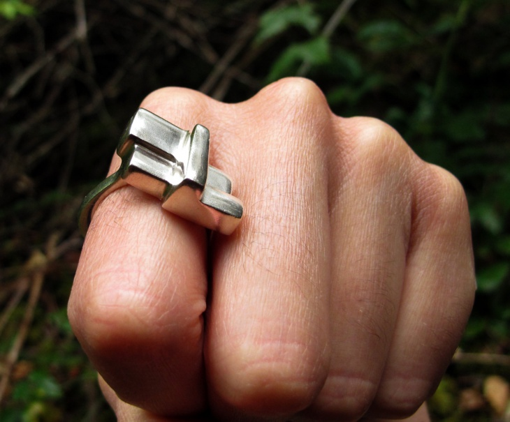 statement sculptural ring