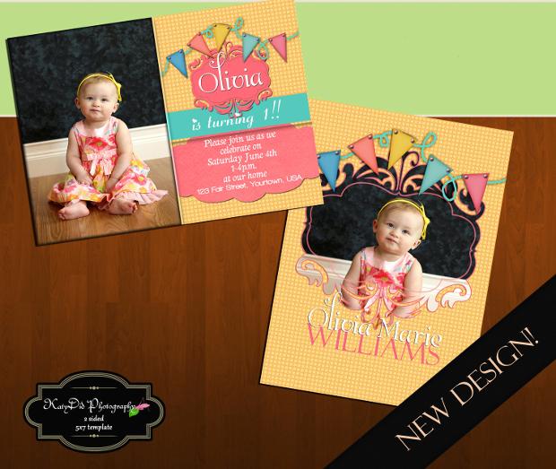 Baby Birthday Banner Design