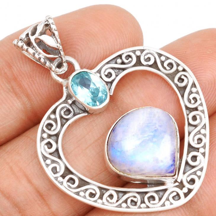 Moonstone Heart Jewelry