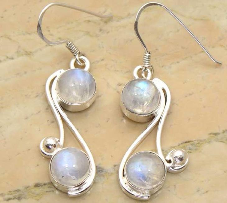 Genuine Moonstone Earrings